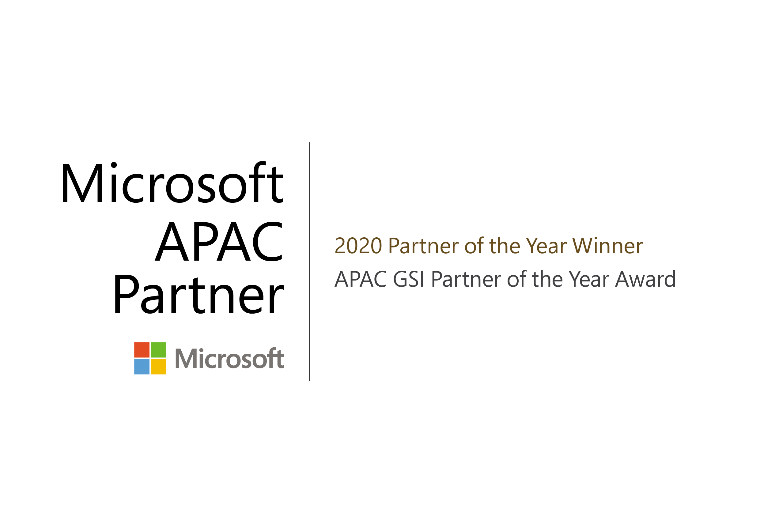 NTT DATA awarded as the 2020 Microsoft Asia Pacific Global Systems Integrator Partner of the Year
