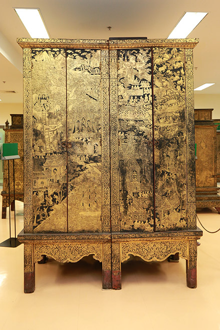 Pig-legged Manuscript Cabinet National Library of Thailand