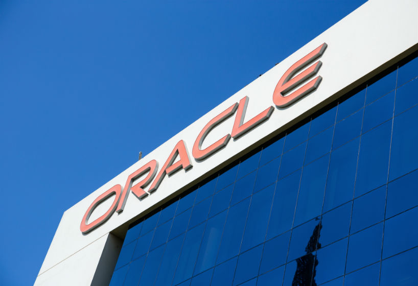 Sign of oracle on the office building