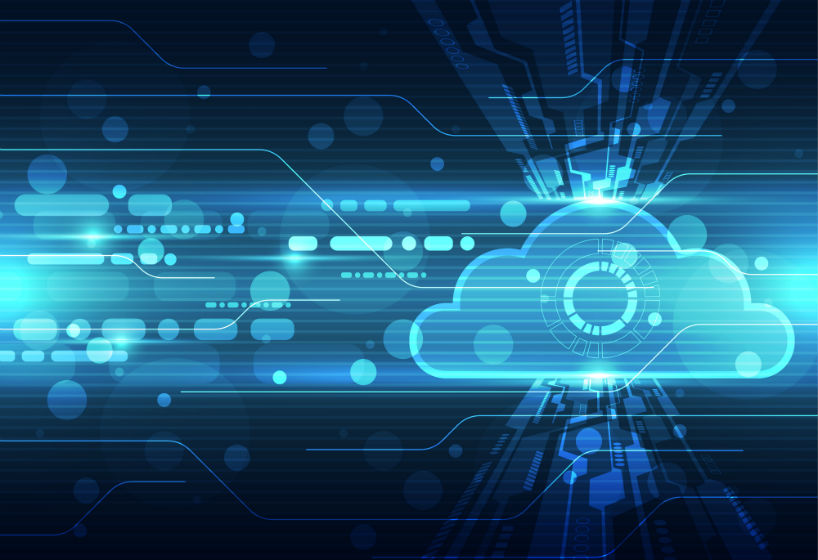 Abstract cloud technology background